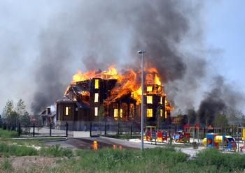 Благовещенский храм в огне