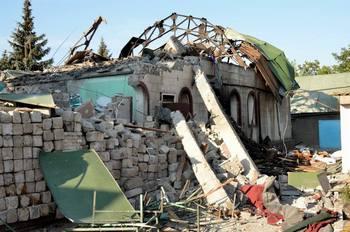 Разрушенный снарядом храм во имя святого праведного Иоанна Кронштадсткого в Кировском 2