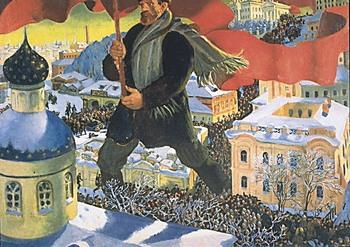 Борис Кустодиев. Большевик (1920)
